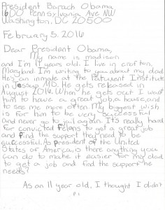 11 year girl write obama